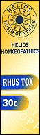 Helios homoeopathic remedy: Rhus Tox 30.