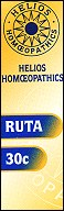 Helios homoeopathic remedy: Ruta 30.